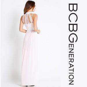 BCBGeneration Lace Yoke Maxi Dress